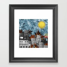 Hell Fire & McDonalds Framed Art Print