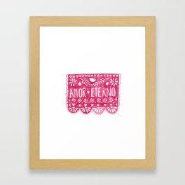 Amor eterno Framed Art Print