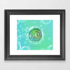 Bacillus B0b on bubble-transport Framed Art Print