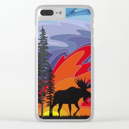 I Saw a Light Clear iPhone Case