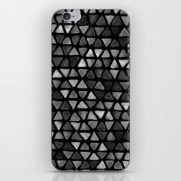 Triangle Watercolor Seamless repeating Pattern - Black and White iPhone Skin