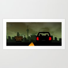 Caution Zombies Ahead Art Print