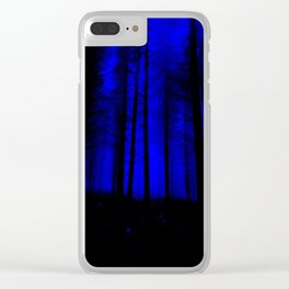 fantasy forest at night Clear iPhone Case