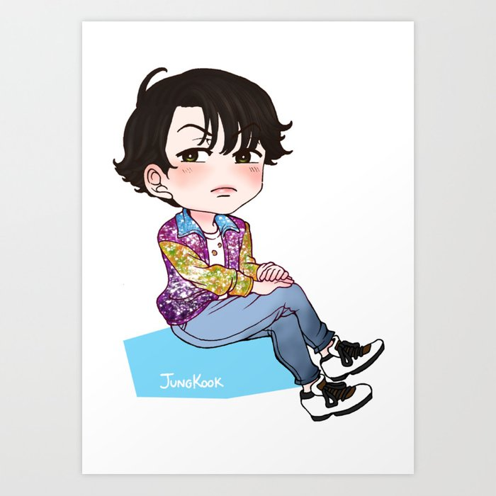 Bts Jungkook Chibi Art Print By Janafa Society6