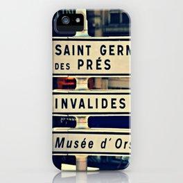Saint Germain de Pres iPhone Case