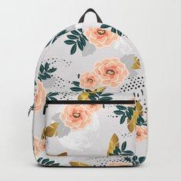 Floral pattern of roses Backpack