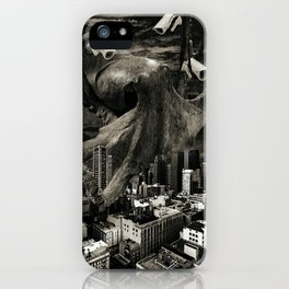 Modern Freedom Black and White iPhone Case