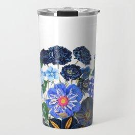 Vintage & Shabby Chic - Blue Flower Summer Meadow Garden Travel Mug