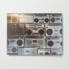 Boom boxes Metal Print