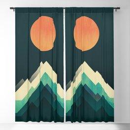 Ablaze on cold mountain Blackout Curtain