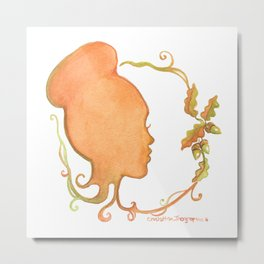 Fall Silhouette Metal Print