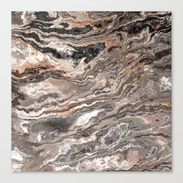 Brown Marble Texture Canvas Print