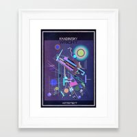 kandinsky Framed Art Prints featuring kandinsky+wright by federico babina