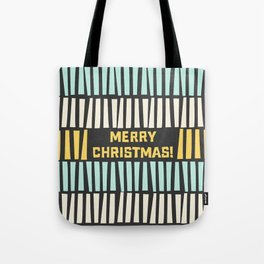 Mid-Century Modern illustrated Christmas Pattern Tote Bag