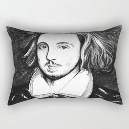 Christopher Marlowe Portrait Rectangular Pillow