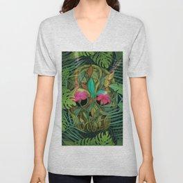 jungle skull Unisex V-Neck