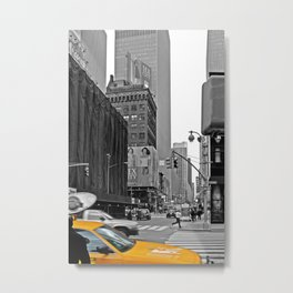 NYC Yellow Cabs Sex and the City - USA Metal Print