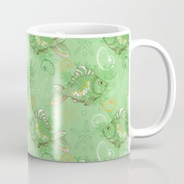 No Redfish all Green Fish for Kids Pattern | (Spring Animal Series) Coffee Mug