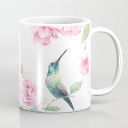 Paradise - watercolor hummingbirds and fuschia Coffee Mug
