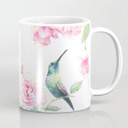 Paradise - watercolor hummingbirds and fuschia Coffee Mug