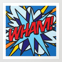 WHAM Comic Book Pop Art Cool Modern Graphic Art Print