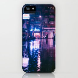 Jing Mei Rainy Night iPhone Case