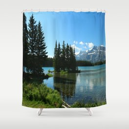Island In the Lake Shower Curtain