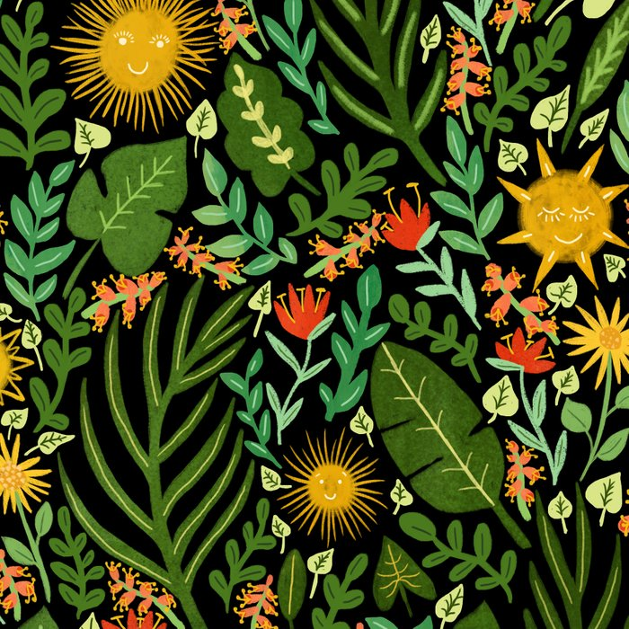 Sunshine Botanical - Dark Version Leggings