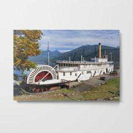 SS Moyie Sternwheeler Kaslo Kootenay Lake British Columbia Metal Print