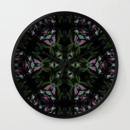 Rose And Jade Geometric Hexagonal  Mandala Pattern Wall Clock