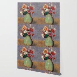 "Odilon Redon ""Flowers in a Green Vase (Fleurs Dans Un Vase Vert)"" Wallpaper"