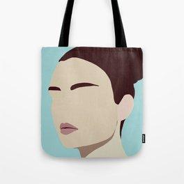 Amelia - modern minimal portrait Tote Bag
