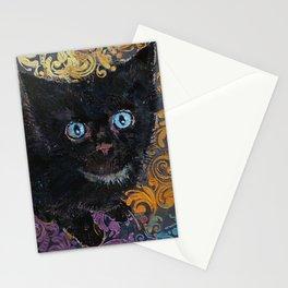 Little Black Kitten Stationery Cards