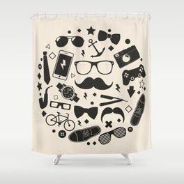 men's accessories Shower Curtain