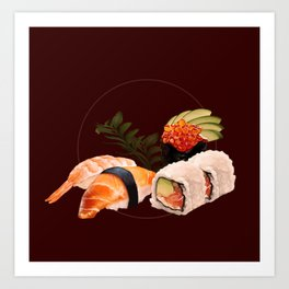 Delicious Sushi Art Print