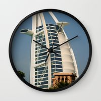 arab Wall Clocks featuring Dubai - Burj Al Arab by gdesai