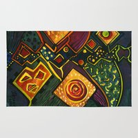 sparkles Area & Throw Rugs featuring GALAXY SPARKLES by Deyana Deco