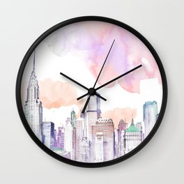 Pastel NYC Wall Clock