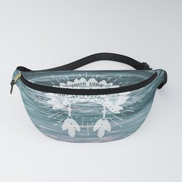 Your Vibe Attracts Your Tribe - Ocean Waves Fanny Pack