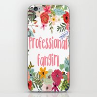 fangirl iPhone & iPod Skins featuring Professional Fangirl by Meleika