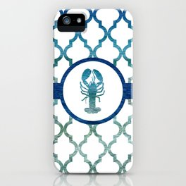 Lobster: Tropical Water Moroccan Pattern iPhone Case