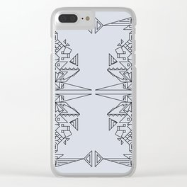 Illustration Pattern 1 Clear iPhone Case
