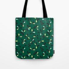 loves me loves me not pattern - hunter green Tote Bag