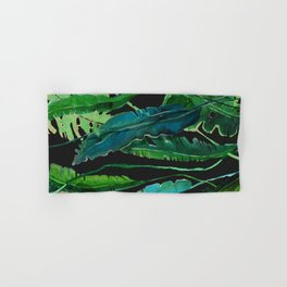 tropical nature compilation at nigth Hand & Bath Towel