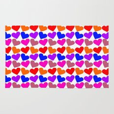 Colorful Hearts Pattern Rug