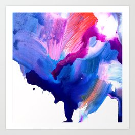 Danbury Abstract Watercolor Painting Art Print