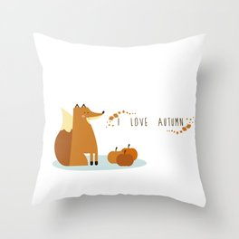 I love Autumm Throw Pillow
