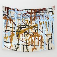 dna Wall Tapestries featuring Father Son DNA by Pluto00Art / Robin Brennan