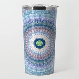 Bright Pastel Boho Chic Mandala Design Travel Mug