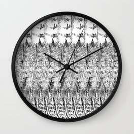 Feather Pattern | Black and White Wall Clock
